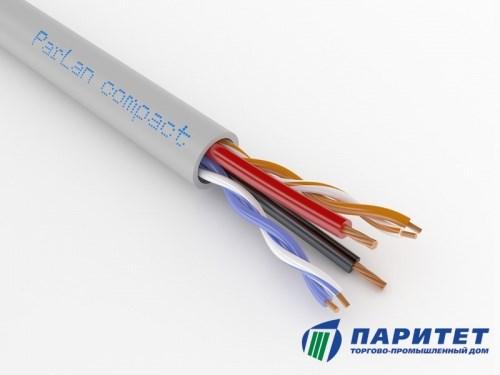 Комбинированный LAN кабель для внутренней прокладки, 2 пары + 2 жилы питания для IP-камер
