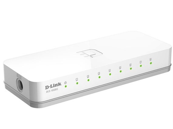 Коммутатор для подключения IP-камер, 8 портов 100 Мбит/сек - фото 5009