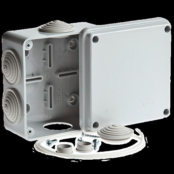 Монтажная коробка для подключения камеры видеонаблюдения 100х100х50мм IP54