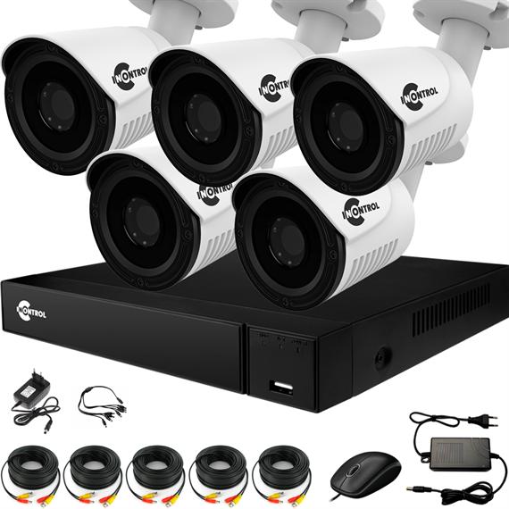 Уличное видеонаблюдение на 5 HD камер для частного дома с возможностью расширения - фото 7336