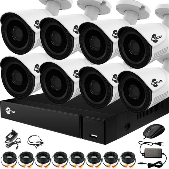 Уличное видеонаблюдение на 8 HD камер для частного дома с возможностью расширения - фото 7339