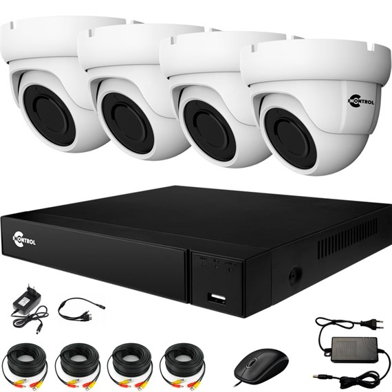 Комплект видеонаблюдения на 4 AHD камеры 2 Мегапикселя - офис, склад, магазин - фото 7505