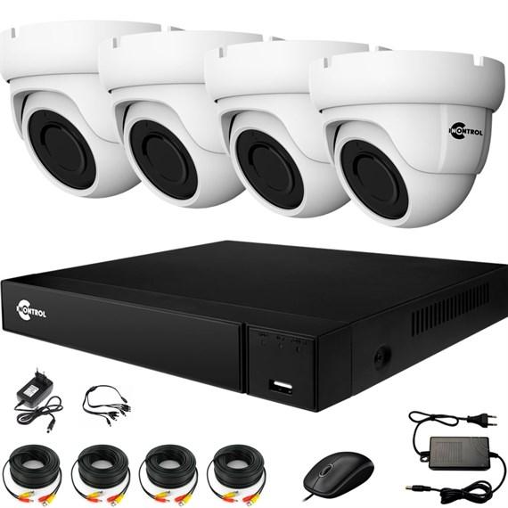 Комплект видеонаблюдения на 4 AHD камеры 2 Мегапикселя с возможностью расширения - офис, склад, магазин - фото 7511