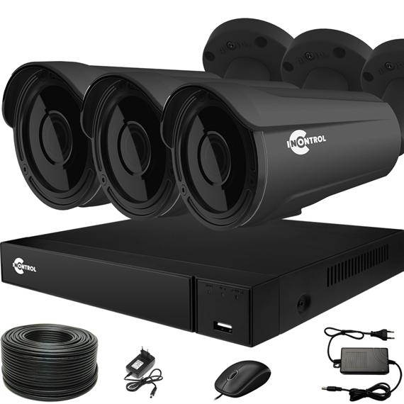 Продвинутый комплект видеонаблюдения для дома на 3 камеры InControl ДОМ-3 5M PRO - фото 7694