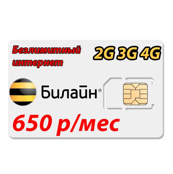 Безлимитный интернет Билайн 2G/3G/4G - фото 8467