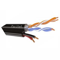 Комбинированный LAN кабель для внешней прокладки, 2пары + 2 жилы питания для уличных IP-камер