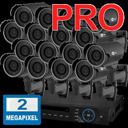 Продвинутый комплект видеонаблюдения для дома на 16 камер InControl ДОМ-16 2M PRO