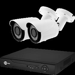Готовый комплект видеонаблюдения для улицы на 2 IP камеры 1920*1080 2 Мегапикселя