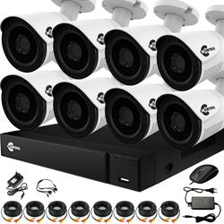 Уличное видеонаблюдение на 8 HD камер для частного дома с возможностью расширения