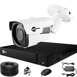Уличное видеонаблюдение на 1 HD камеру для дома с возможностью расширения InControl ДОМ-1 5M PRO-B