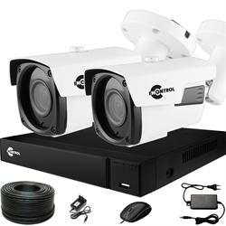 Готовый комплект видеонаблюдения для дома на 2 камеры InControl ДОМ-2 5M PRO-B