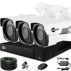 Продвинутый комплект видеонаблюдения для дома на 3 камеры InControl ДОМ-3 5M PRO-B