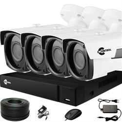 Продвинутый комплект видеонаблюдения для дома на 4 камеры InControl ДОМ-4 5M PRO-B