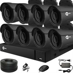 Продвинутый комплект видеонаблюдения для дома на 8 камер с возможностью увеличения