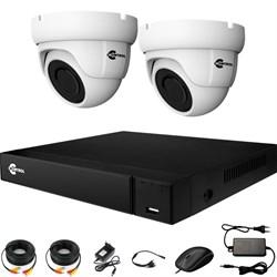 Комплект видеонаблюдения на 2 AHD камеры 2 Мегапикселя - офис, склад, магазин