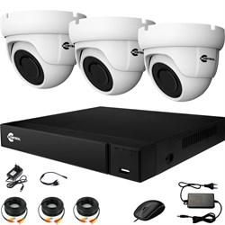 Комплект видеонаблюдения на 3 AHD камеры 2 Мегапикселя - офис, склад, магазин