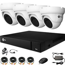 Комплект видеонаблюдения на 4 AHD камеры 2 Мегапикселя - офис, склад, магазин