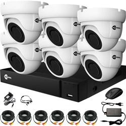 Комплект видеонаблюдения на 6 AHD камер 2 Мегапикселя - офис, склад, магазин