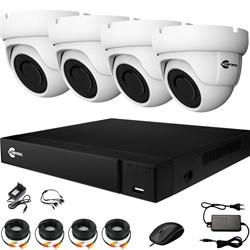 Комплект видеонаблюдения на 4 AHD камеры 2 Мегапикселя с возможностью расширения - офис, склад, магазин
