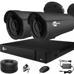 Готовый комплект видеонаблюдения для дома на 2 камеры InControl ДОМ-2 5M PRO