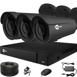 Продвинутый комплект видеонаблюдения для дома на 3 камеры InControl ДОМ-3 5M PRO