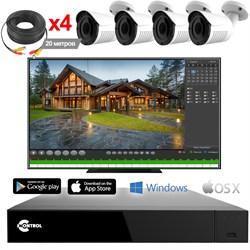 Уличное видеонаблюдение на 4 HD камеры для частного дома