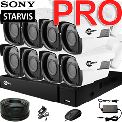 Продвинутый комплект видеонаблюдения для дома на 8 камер