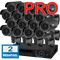 Продвинутый комплект видеонаблюдения для дома на 16 камер InControl ДОМ-16 2M PRO - фото 5949